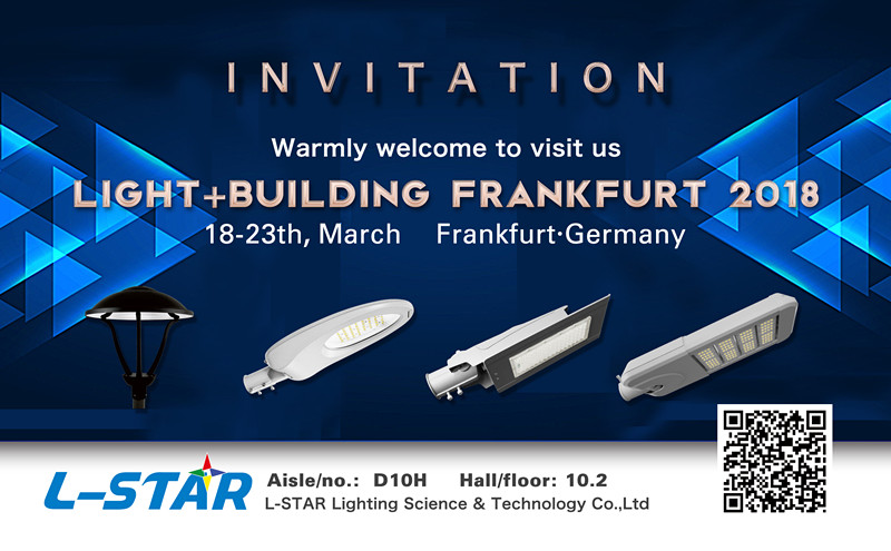 the Invitation of Frankfurt Lighting Fair March, 2018