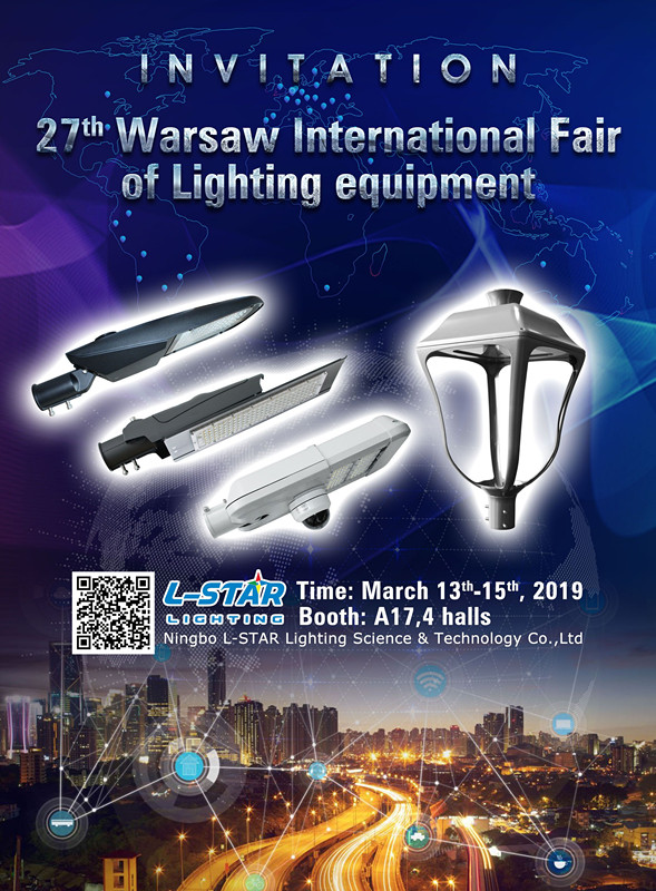 The invitation of Warsaw Lighting Fair